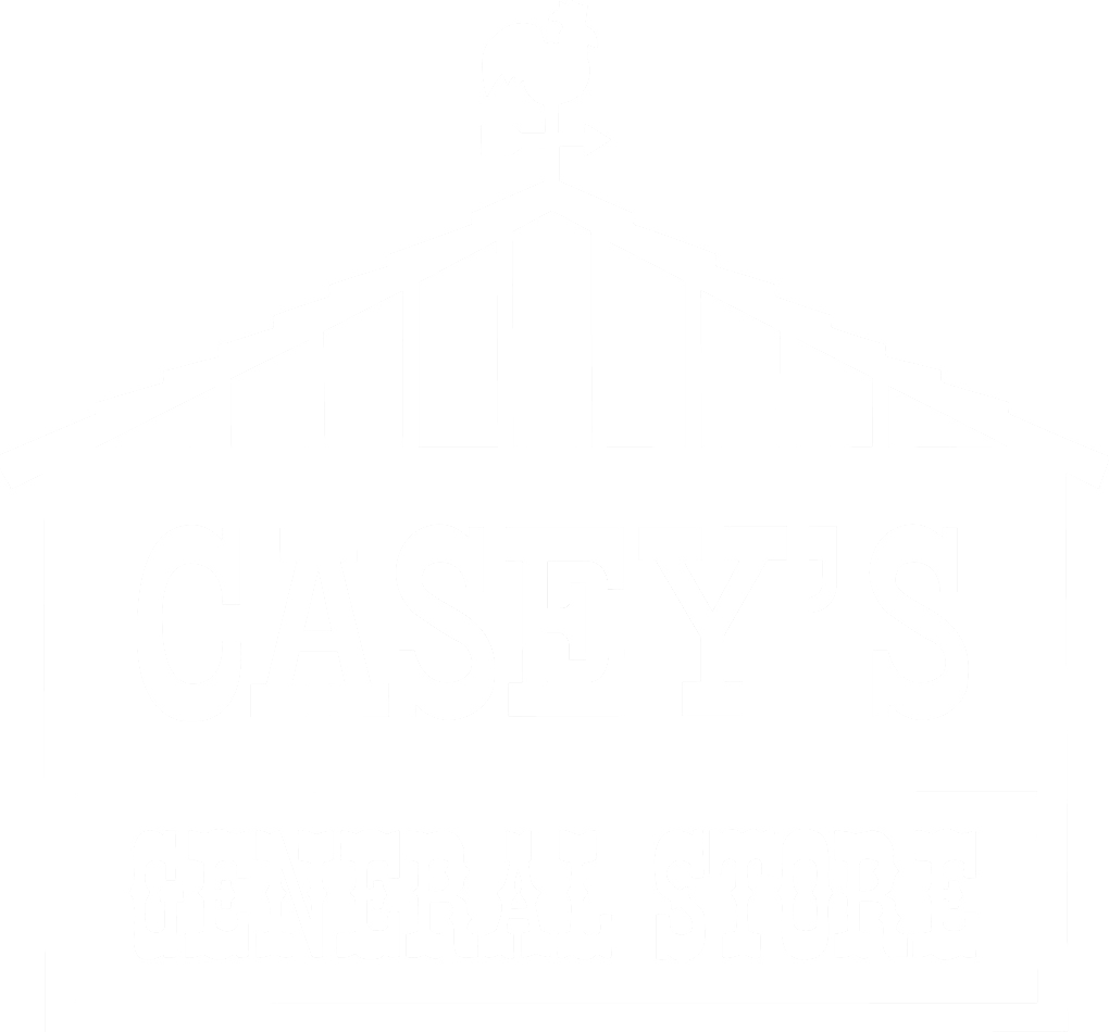 White logo for Casey's general stores
