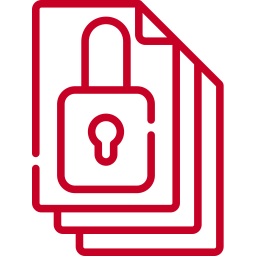 red data security icon