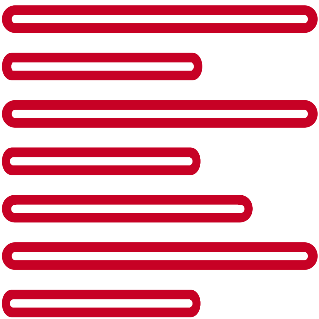cropped red lines for decoration