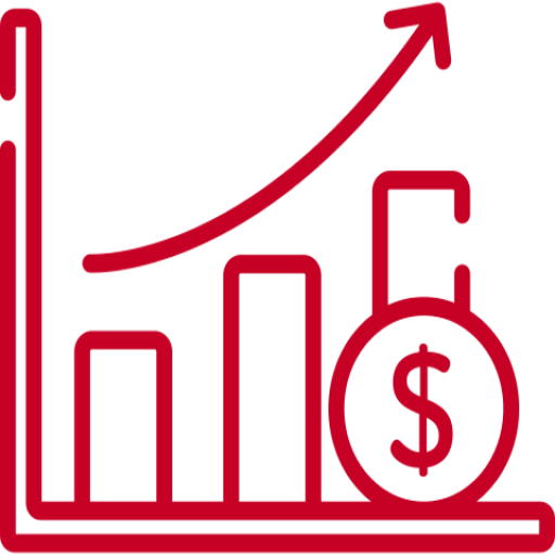 Profits increasing icon