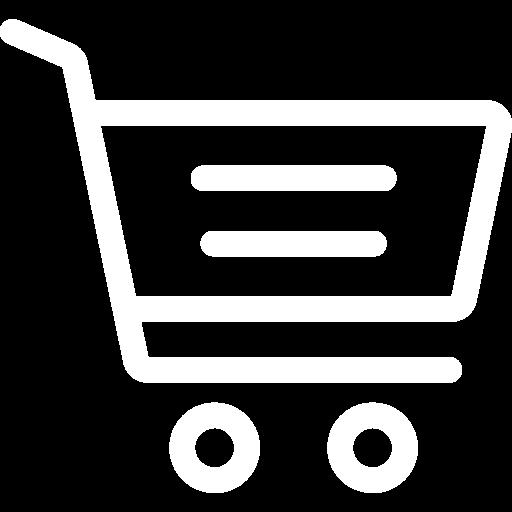 white shopping cart icon