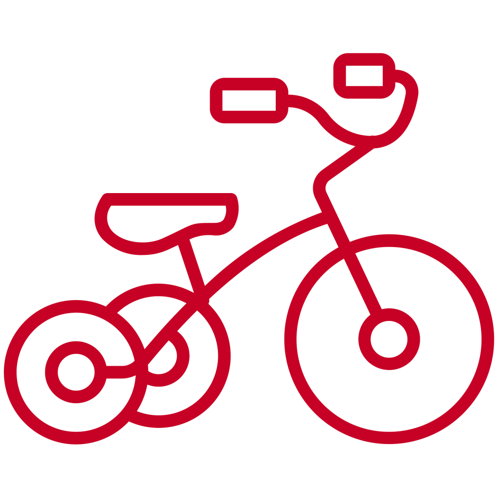 red bicycle icon