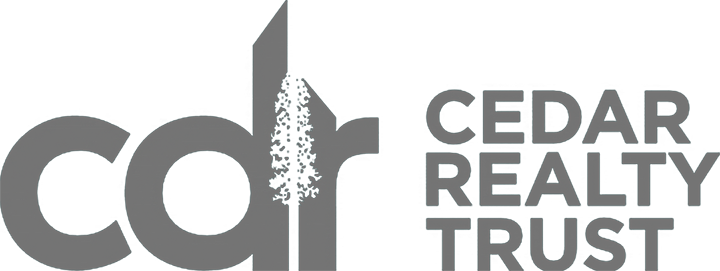 Logo for Cedar Realty Trust.