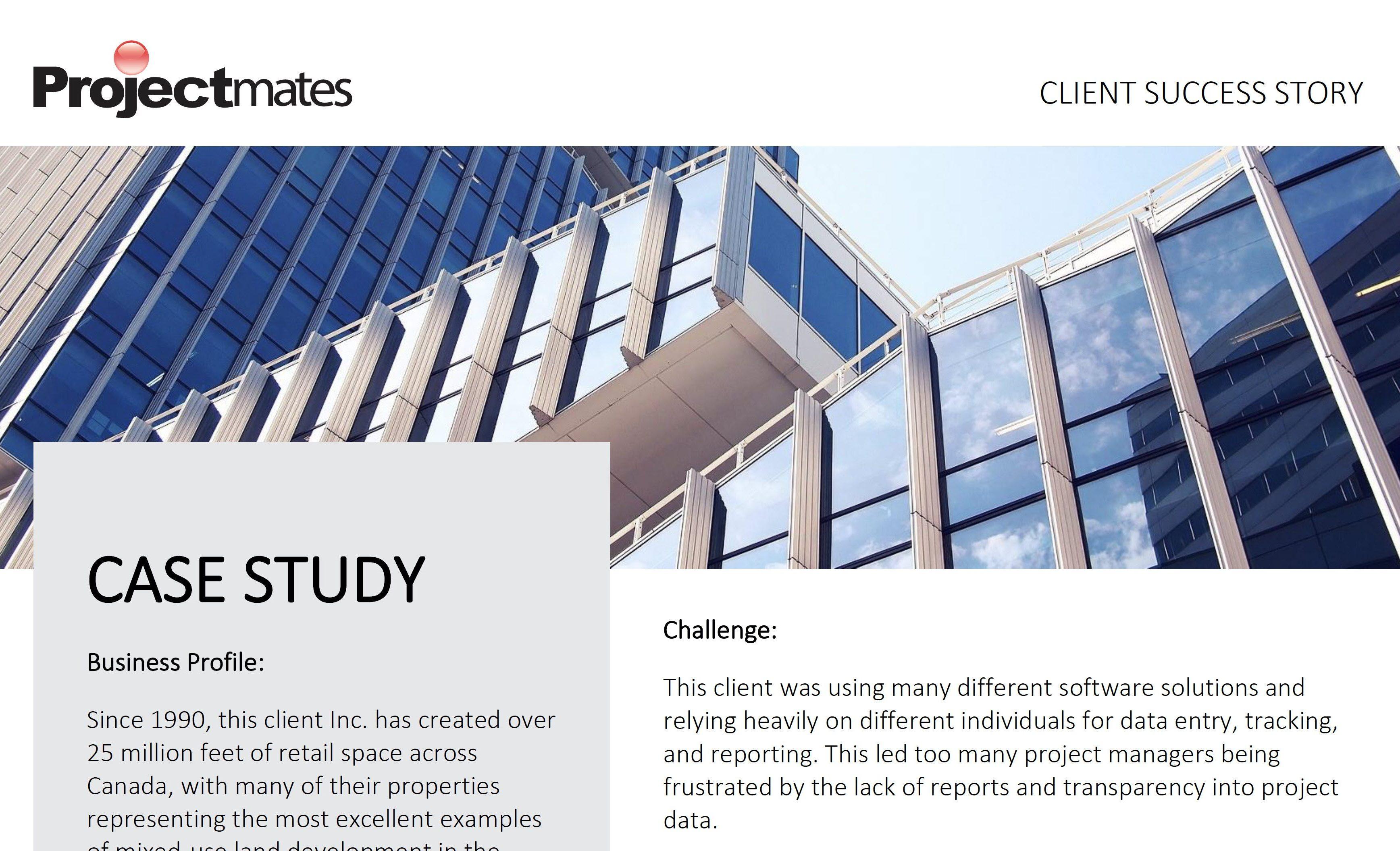 Screenshot of Projectmates case study