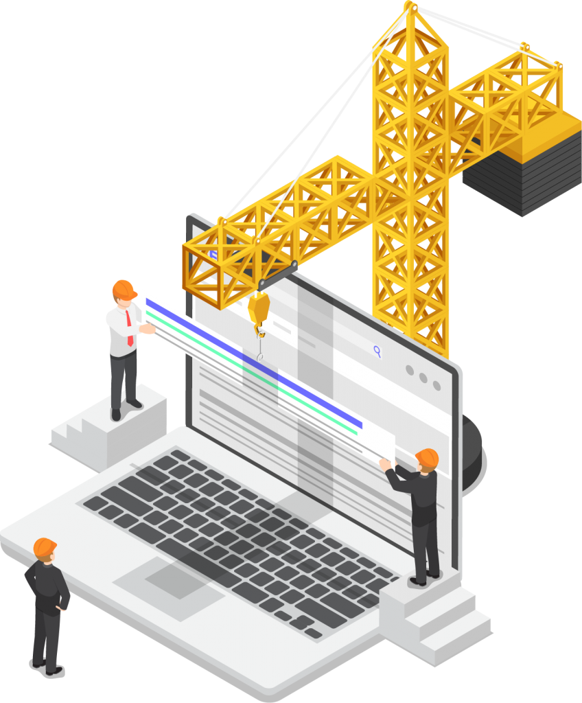Construction workflow icon