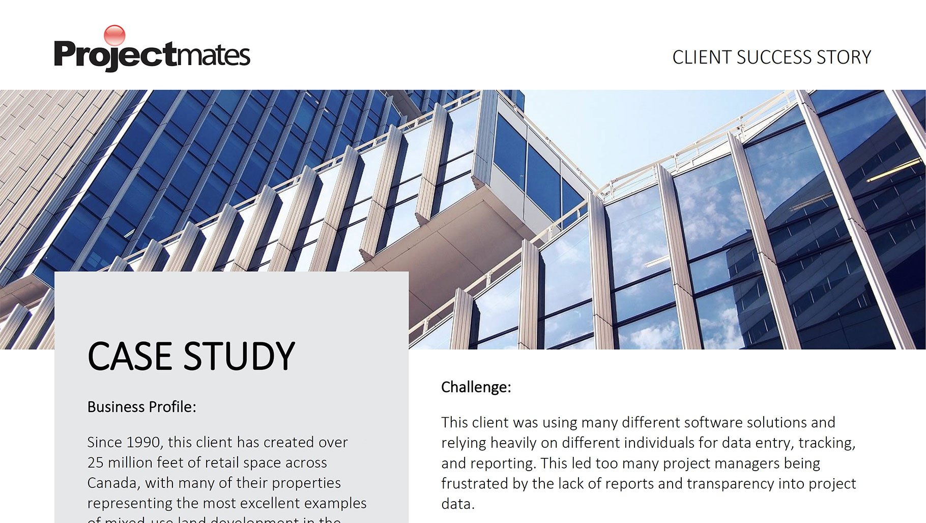 Image of client success story case study