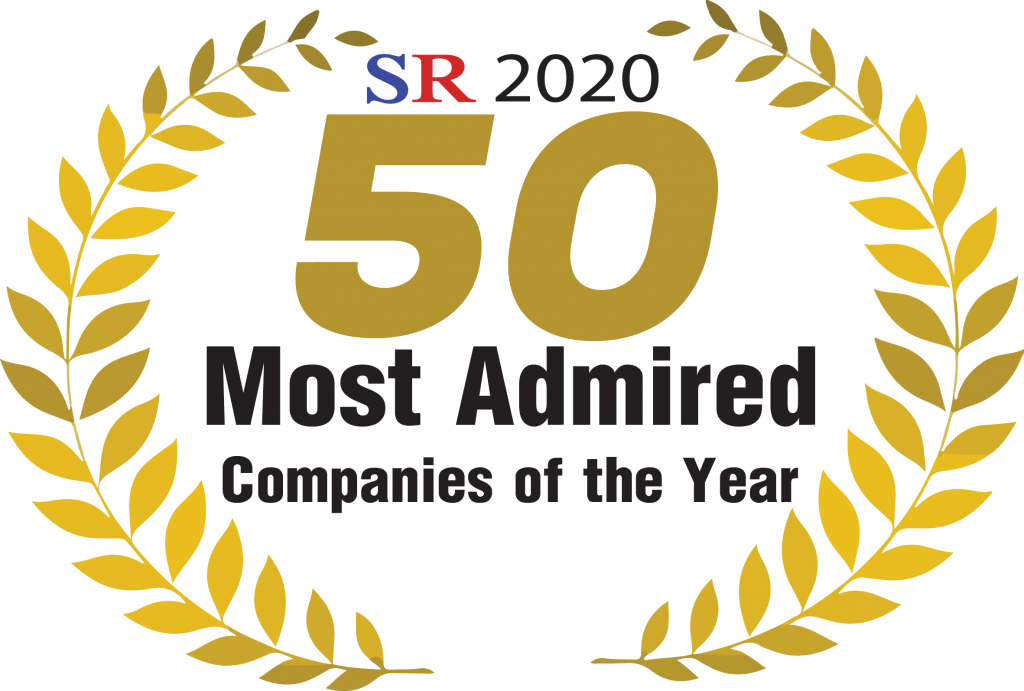 Award for 50 Most Admired Companies of the year 2020