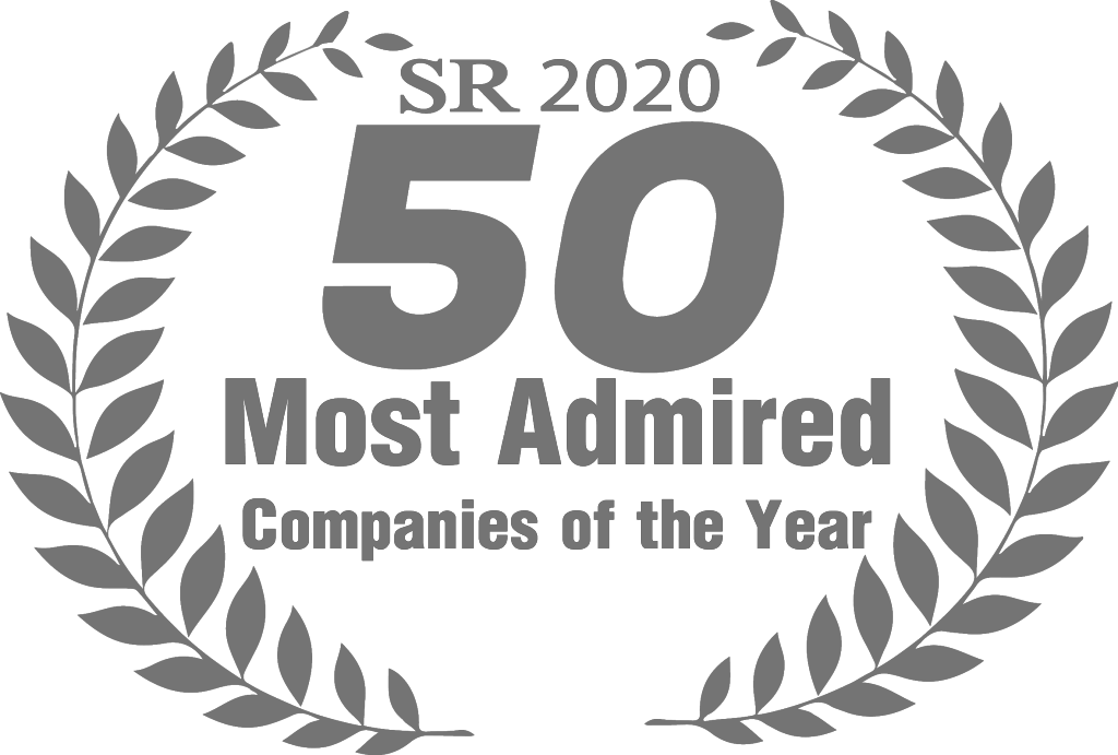 grey logo of 50 Most Admired Companies of the Year