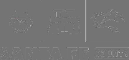 grey Santa Fe County logo